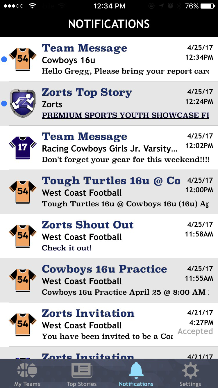 Zorts App Screenshot